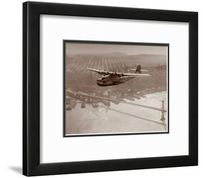 China Clipper in Flight over San Francisco, California 1939 by Clyde Sunderland