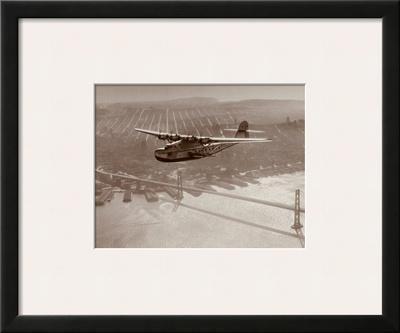 China Clipper in Flight over San Francisco, California 1939