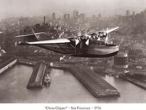 China Clipper, San Francisco, California, 1936 by Clyde Sunderland