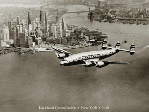 Lockheed Constellation, New York 1950 by Clyde Sunderland