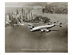 Lockheed Constellation, New York 1950 by Clyde Sunderland