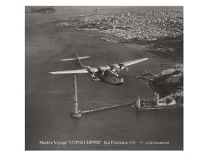 Maiden Voyage, China Clipper, San Francisco, California 1935 by Clyde Sunderland