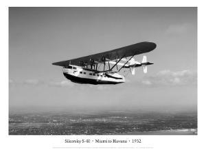 Sikorsky S-40, Miami to Havana, 1932 by Clyde Sunderland