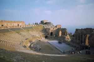 A Greco-Roman Theatre at Taormina in Sicily, 2nd Century by CM Dixon