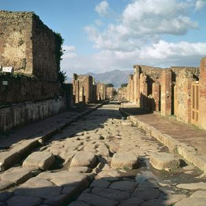 A Street in the Roman Town of Pompeii, 1st Century by CM Dixon