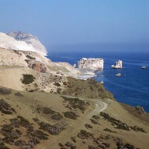Aphrodites Rock on Cyprus by CM Dixon