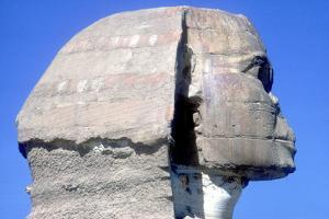 Closeup of Head Ofthe Sphinx, Period of Khafre (Chephren), 4th Dynasty, 26th Century Bc by CM Dixon