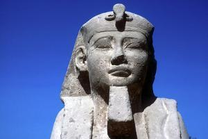 Closeup of Sphinxs Head, Temple Sacred to Amun Mut and Khons, Luxor, Egypt, C370 Bc by CM Dixon