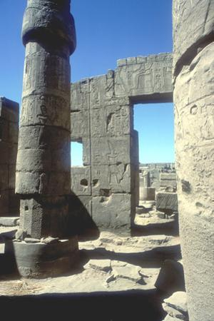 Columns, Temple of Amun, Karnak, Egypt by CM Dixon