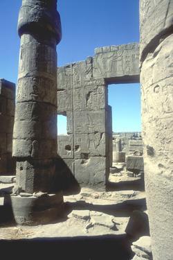 Columns, Temple of Amun, Karnak, Egypt by CM Dixon