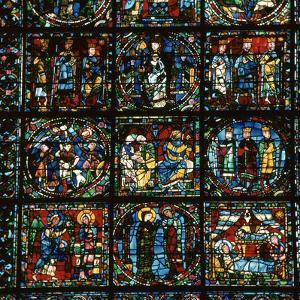 Detail of the Great West Window of Chartres Cathedral, 12th Century by CM Dixon