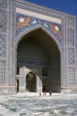 Facade of Shir-Dar Madrasa, 17th Century by CM Dixon