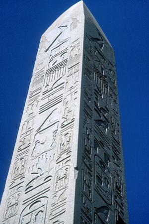 Obelisk of Queen Hatshepsut Viewed from Ground, Temple of Amun, Karnak, Egypt, C1503-C1483 Bc by CM Dixon