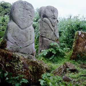 Pagan Celtic Stone Figures, Boa Island, Co.Fermanagh, Ireland, C5th Century by CM Dixon
