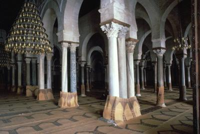 Prayer Room of the Great Mosque in Kairouan, 7th Century