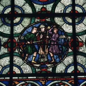 Stained Glass Depiction of the Murder of Thomas a Becket, 12th Century by CM Dixon