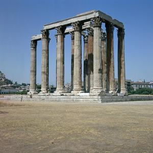 Temple of Olympian Zeus in Athens, 2nd Century Bc by CM Dixon