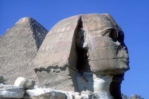 The Sphinx and Pyramid of Khafre (Chephren), Giza, Egypt, 4th Dynasty, 26th Century Bc by CM Dixon