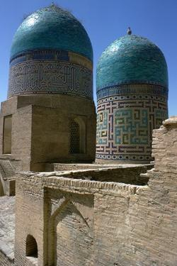 Tower of the Shah-Zindeh Mausoleums, 14th Century by CM Dixon