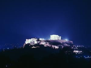 View of the Acropolis at Night, 5th Century Bc by CM Dixon