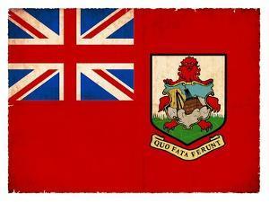 Grunge Flag Of Bermuda by cmfotoworks