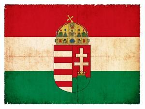 Grunge Flag Of Hungary by cmfotoworks