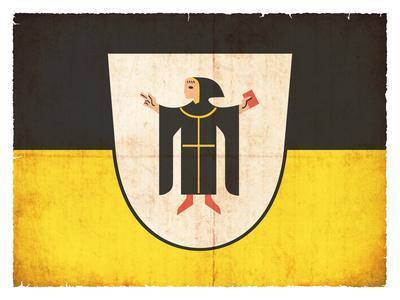 Grunge Flag of Munich (Bavaria, Germany)