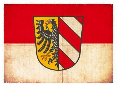 Grunge Flag of Nuremberg (Bavaria, Germany)