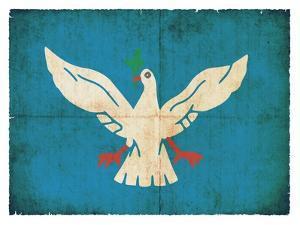 Grunge Flag Of Salvador De Bahia (Brazil) by cmfotoworks