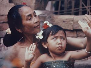 Balinese Mother and Child by Co Rentmeester
