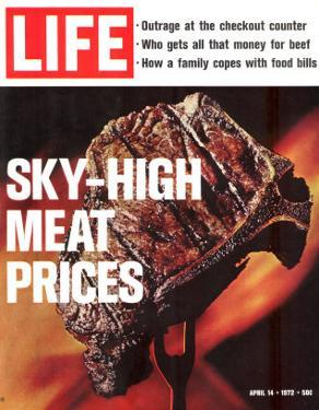 Sky-High Meat Prices, April 14, 1972 by Co Rentmeester