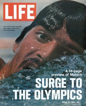 US Swimmer Mark Spitz Training for 1972 Munich Olympics, August 18, 1972 by Co Rentmeester