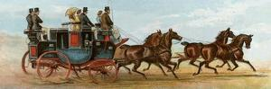 Coach and Four Horses of Mr Oakeley, London, 1880s