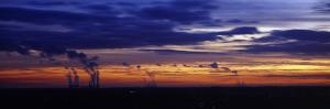 Coal-Fired Power Stations at Sunset, Drax Power Station, Eggborough Power Station, Ferrybridge P...