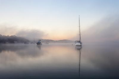 Foggy Morning on Lake Macquarie by Coal Pointer Images