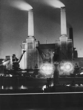Coal Ships Unload at Battersea Power Station, July 1950
