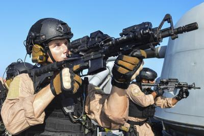 Coast Guard Maritime Enforcement Specialists Conduct a Training Exercise