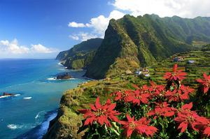 Coastal landscape near Boa Ventura, Madeira Island, Portugal, composing