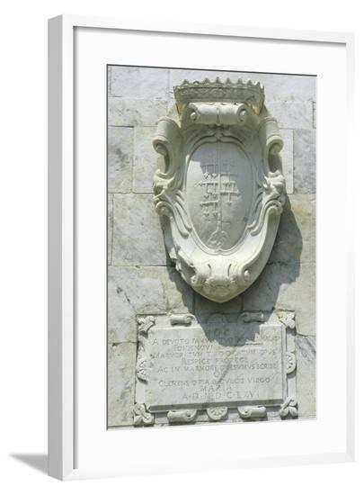 Coat of Arms and Insignia on the Oratory--Framed Giclee Print
