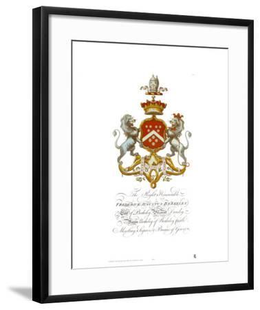 Coat of Arms-Frederick Augustus Berkeley--Framed Art Print