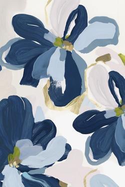 Cobalt Florals II by Isabelle Z