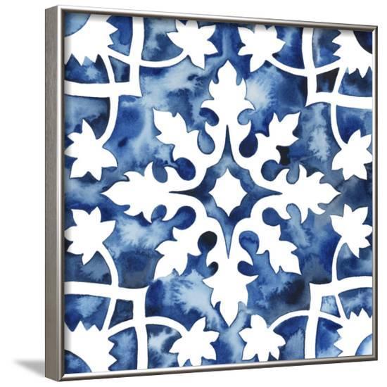 Cobalt Tile V--Framed Art Print