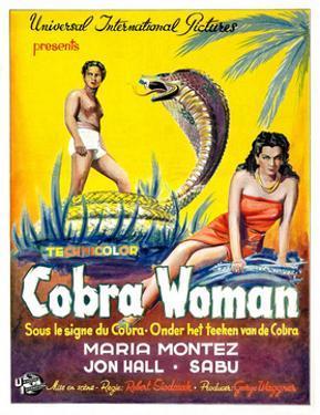 Cobra Woman, Sabu, Maria Montez, (Belgian Poster Art), 1944