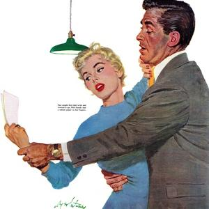 """Decitful Angel  - Saturday Evening Post """"Leading Ladies"""", July 16, 1955 pg.21 by Coby Whitmore"""