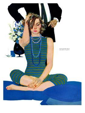 """End of a Marriage - Saturday Evening Post """"Leading Ladies"""", April 13, 1957 pg.27 by Coby Whitmore"""
