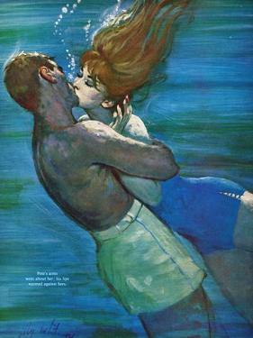 "Love Isn't Logical - Saturday Evening Post ""Leading Ladies"", December 5, 1959 pg.23 by Coby Whitmore"