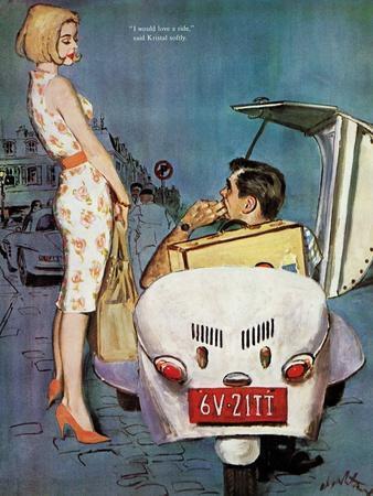 "The Casanova Car - Saturday Evening Post ""Leading Ladies"", September 5, 1959 pg.34"