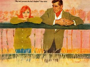 """Wrong Kind of Girl  - Saturday Evening Post """"Leading Ladies"""", October 8, 1960 pg.36 by Coby Whitmore"""