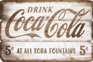 Coca Cola MDF Plank Sign