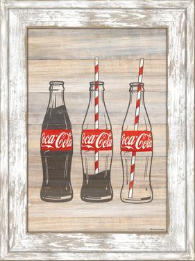 Coca Cola Wood Shaker Framed MDF Sign